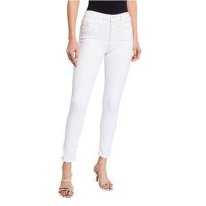 JOE'S Jeans White High Rise Exposed Buttons Jeans